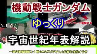 【機動戦士ガンダム】宇宙世紀年表解説 【ゆっくり解説】part16