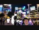 渋谷ハロウィンを満喫する先輩