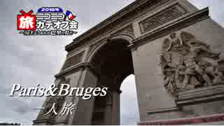 パリ&ブルージュ一人旅Part1出発【ニコニ