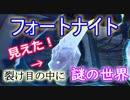 """【フォートナイトバトルロイヤル】見えた!""""裂け目の中に謎の世界""""【Fort..."""