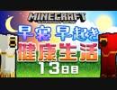 【Minecraft】早寝早起き 健康生活 13日目