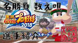 【パワプロ2018】◆西美濃 名勝負数え唄◆チーム/選手紹介