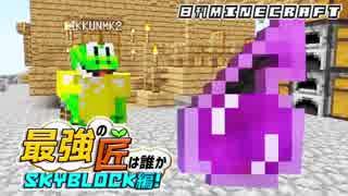 【日刊Minecraft】最強の匠は誰かスカイブロック編!絶望的センス4人衆がカオス実況!♯6【Skyblock3】