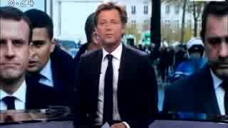マクロン大統領がG20から帰国し暴動現場の