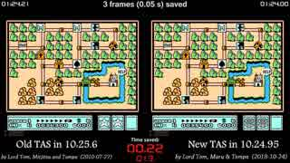 [TAS Comparison] Super Mario Bros. 3 wa