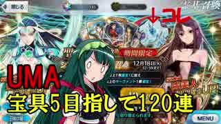 【FGO】ガチャ大好きなずん子がUMA宝具5狙いで120連引いた結果・・・!?