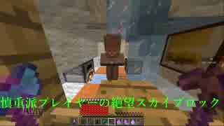 [minecraft] 慎重派プレイヤーの絶望スカ