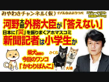 """The press where Minister of Foreign Affairs Kono """"does not answer"""" is """"disaster"""" which is one character of this year 