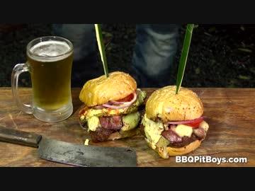 Steak & Bacon & Egg Breakfast Burger