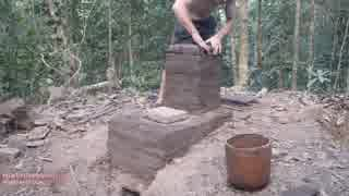 ホモと学ぶ煙突炉.Pit and chimney furnace