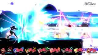 【スマブラSP】最後の切りふだで7キャラクターを同時に吹っ飛ばす