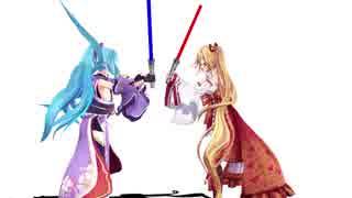【MMD】棒で遊ぶヤマトイオリと金剛いろは【アイドル部】