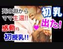 □【初めての授乳!初乳出た!!】出産で死の淵から生還したママ...