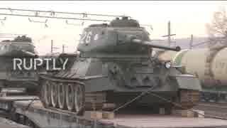 ラオスがT-34戦車30両をロシアに返還