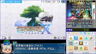 【ゆっくり】世界樹の迷宮X(クロス)HEROIC_RTA_3時間46分53秒_Part1/7