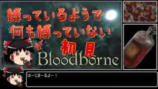【ゆっくり実況】縛っているようで何も縛っていない輸血饅頭が初見ブラッドボーン【Bloodborne】part1