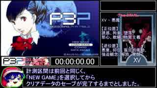 XV -【PSP】P3P RTA 全コミュMAXハム子編