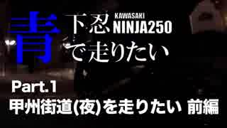 【Ninja250】青下忍で走りたいPart.1甲州
