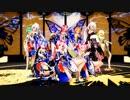 【Ray MMD】One・Two・Three  Tda式改変 弱音ハク 初音ミク 重音テト GUMI 鏡音リン 神埜理沙 龍崎美穂 巡音ルカ 紫音美菜 IA Japanese Kimono