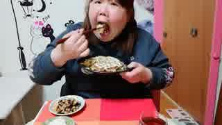 【デブエット】イカのお好み焼きを作って食べる!□