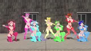 【MMD】7人のサキュバスで被害妄想携帯女子(笑)【カメラ固定・字幕無】(1080p_60fps)