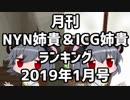 月刊NYN姉貴&ICG姉貴ランキング2019年1月号