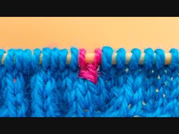 【棒針】ひたすら「右上1目交差」を編む