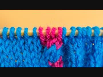 【棒針】ひたすら「左上2目交差」を編む