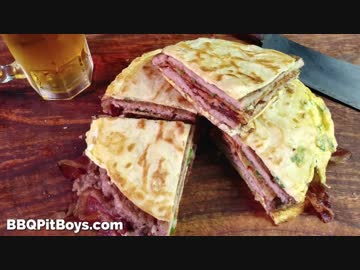 Quesadilla with bacon and egg