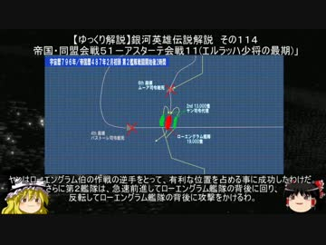 """【 Slowly Explanation 】 Legend of Galactic Heroes Commentary Part 114 """"Empire · Alliance Battle 51 - Astate Battle 11 (Final of Major General Erlach)"""""""