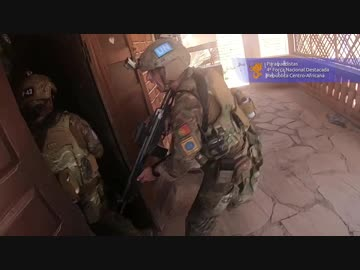 Intense battle of the UN forces (Portuguese airborne forces) and armed forces