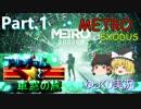【メトロ】METRO EXODUS アルチョムと車窓の旅 Part.1【ゆっくり】