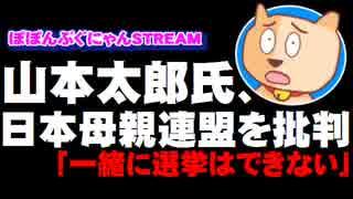 山本太郎氏が日本母親連盟を批判「一緒に