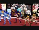 【MMD】 ちび&ぷちが振袖ミニで ♪ 極楽浄土 ♪2(画質向上版)[1080P]