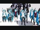 [ MMD] 試作 初音ミク17人 E-girls YMCA YANGMAN