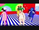 【そばかす式MMD】 ゴーストルール  キスメ・チルノ・ピース・てゐ