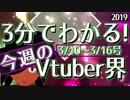 【3/10~3/16】3分でわかる!今週のVtuber界【佐藤ホームズの調査レポート】