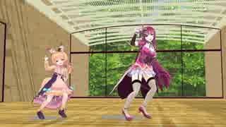 【MMD花騎士】キツネノボタンとカトレアで【きょうもハレバレ】