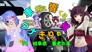 【ウナきり車載】車内に響くはウナきりの声 #3 岐阜県養老の滝【イヤホン推奨】