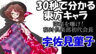 【30秒で分かる東方キャラ】宇佐見菫子【原作設定ゆっくり解説】