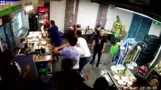 中国 食堂での喧嘩バトル