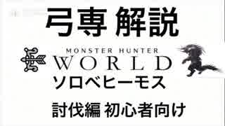【MHW】弓専解説 ソロベヒーモス討伐初心