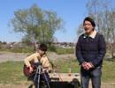 """【ただの歌好き(素人)が""""多摩川で""""歌ってみた! 】プリンセスプリンセス『M』  第142回 4月5日(金曜日)"""