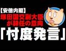 「忖度発言」で塚田国交副大臣が辞意 - 統一地方選などに影響か