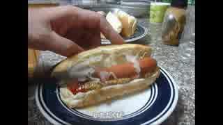 アメリカの食卓736 ホットドックを食す!