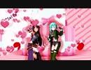 【MMD】可愛さあふれるシノンとユウキの『ロキ』