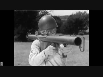 【 Subtitle 】 How to use M1 anti-tank rocket launcher US military official 1943