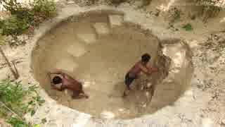 ホモと学ぶ竪穴式プールの作り方.Primitive_Technology