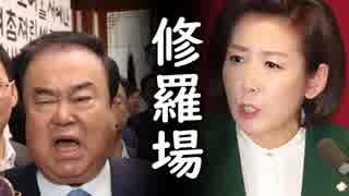文喜相(ムン・ヒサン)国会議長がセクハラ低血糖で緊急搬送後、韓国国会でバール施設破壊の愉快展開