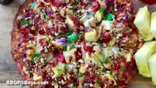 パイナップルベーコンポークラインドピザ